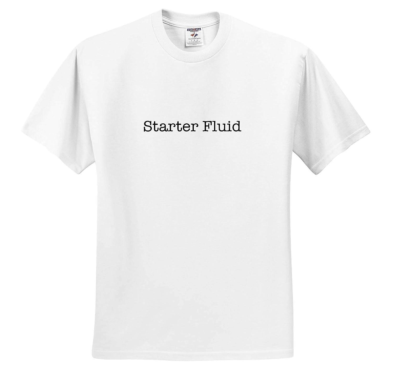 3dRose EvaDane Starter Fluid Black Adult T-Shirt XL ts/_315466 Funny Sayings