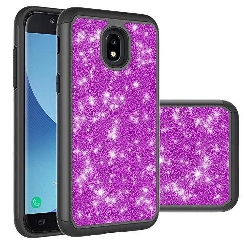 SKTGSLAMY  Galaxy J3 2018, J3V J3 V 3rd Gen,Express Prime 3, J3 Star, J3 Achieve, Amp Prime 3 Case, Shockproof Impact Hybrid Dual Layer Defender Protective Cover (Purple-2)