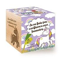 Celebrations Ecocube, Cultive Ta Propre Licorne, Avec Un Message Gravé De Haute Qualité, Idée Cadeau (100% Ecologique), Kit Prêt-à-Pousser, Produit En Autriche