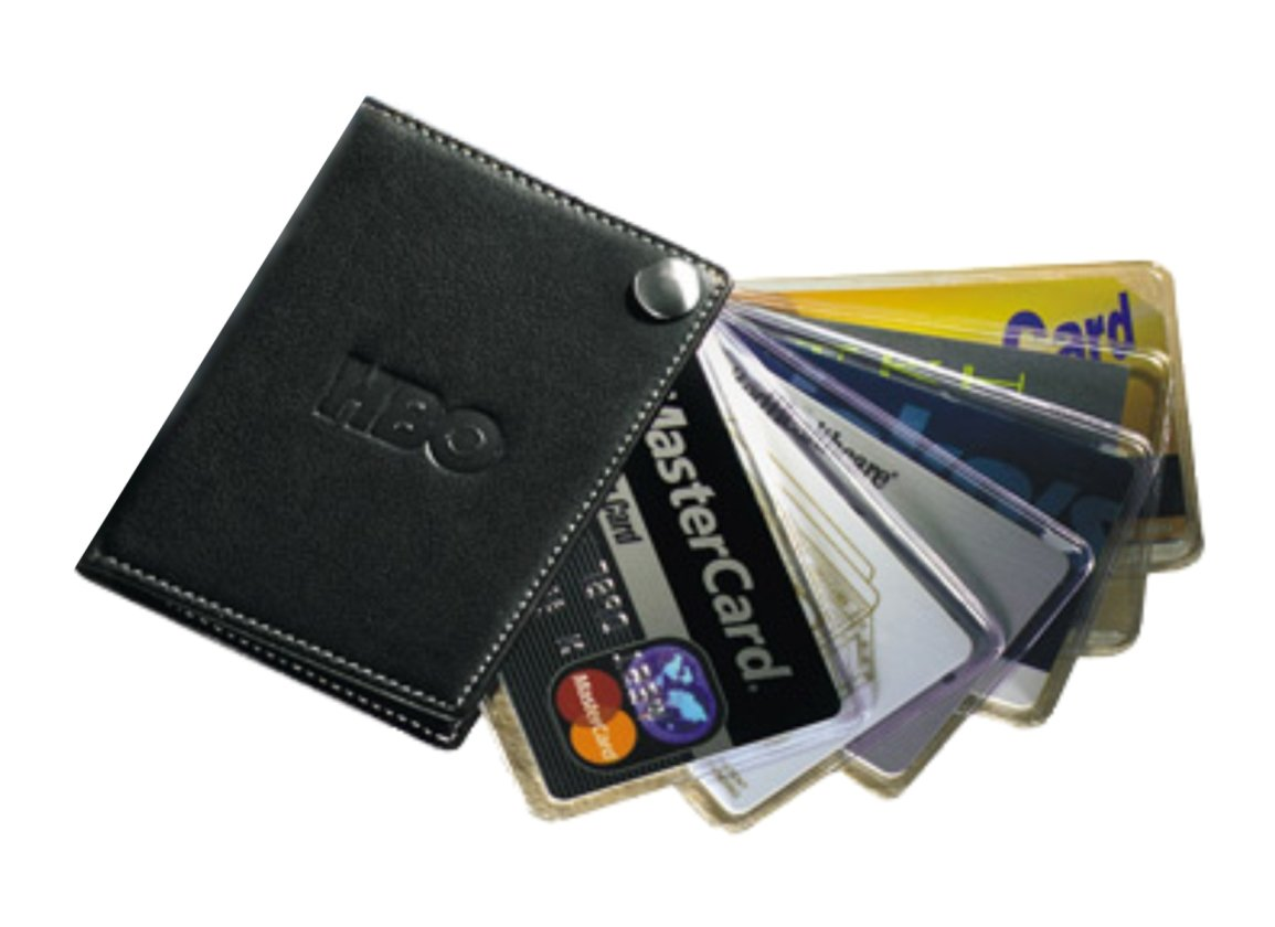Amazon.com : Leather Fan-Out Business/Credit Card Holder with ...
