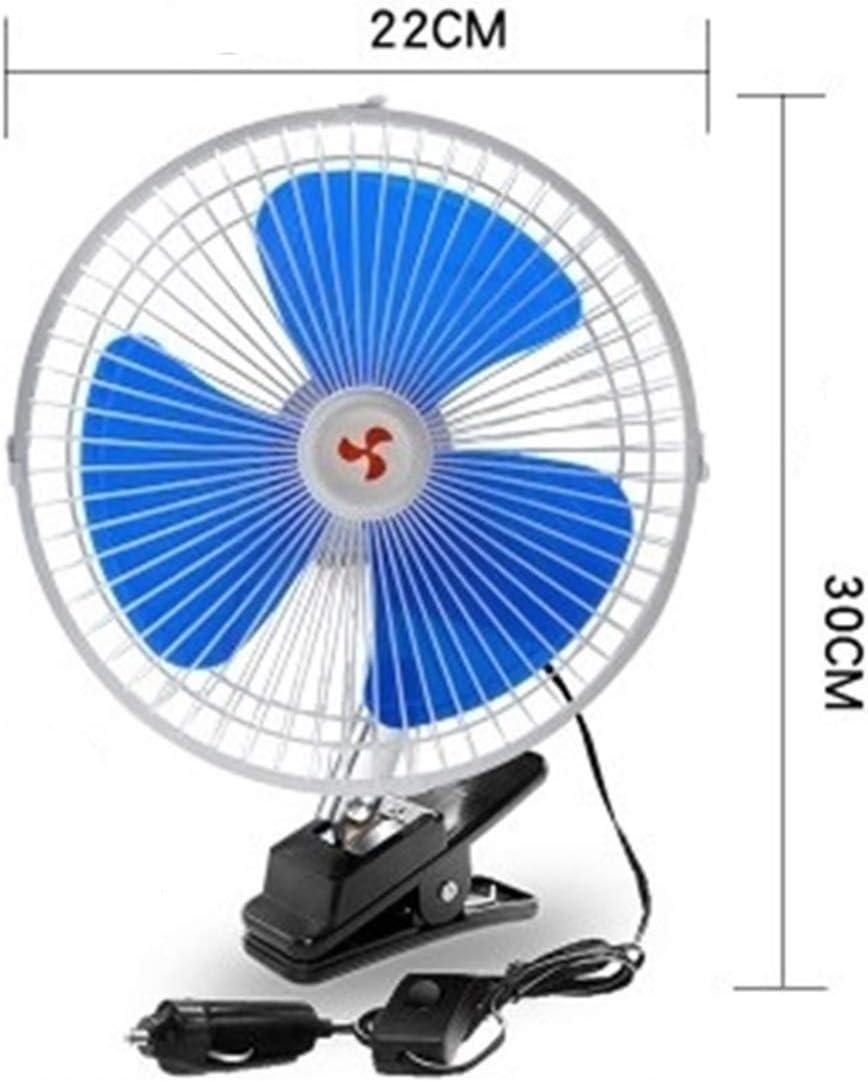Color : Car 6 inch Fan XIAOF-FEN Car Truck Mini Fan 12v 6 Inch 8 Inch 10 Inch Strong Wind Car Interior Electric Fan USB Fan