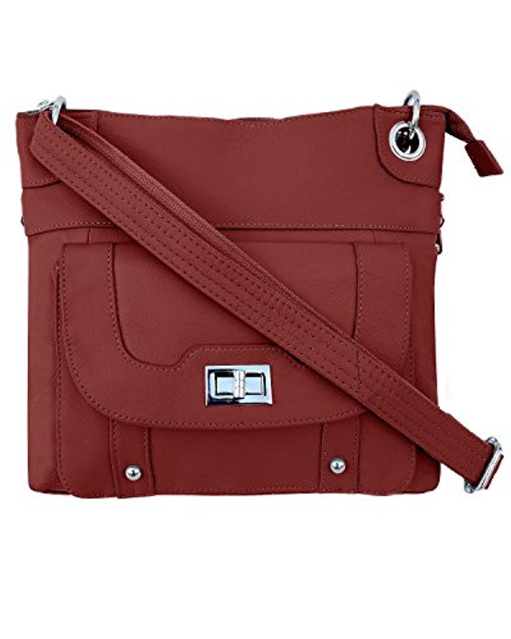 Ladies' Gun Concealment Crossbody Bag Red