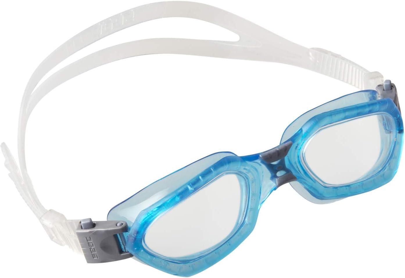 Nero//Bianco SEAC Sonic Taglia Unica Occhialini a Mascherina da Nuoto in Piscina e in Mare Unisex Adulto