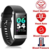 Fitness Tracker, Activity Tracker Watch with Heart Rate Monitor Sleep Monitor Blood Pressure Call Reminder,IP68 Waterproof Smart Band with Calorie Counter,Pedometer for Kids Men Women and Gift