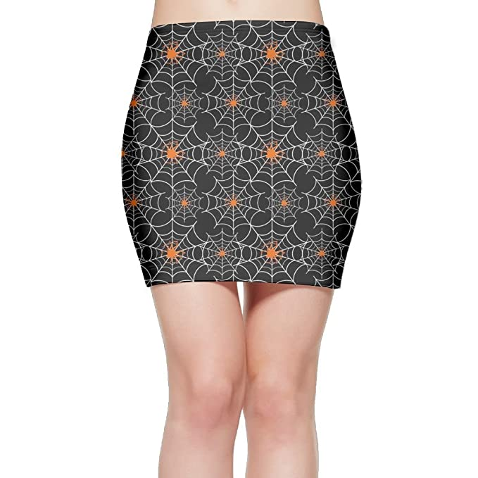 a39892539 Spider Web Plus Size Sexy De Moda Retro Women Short Skirts  Amazon ...