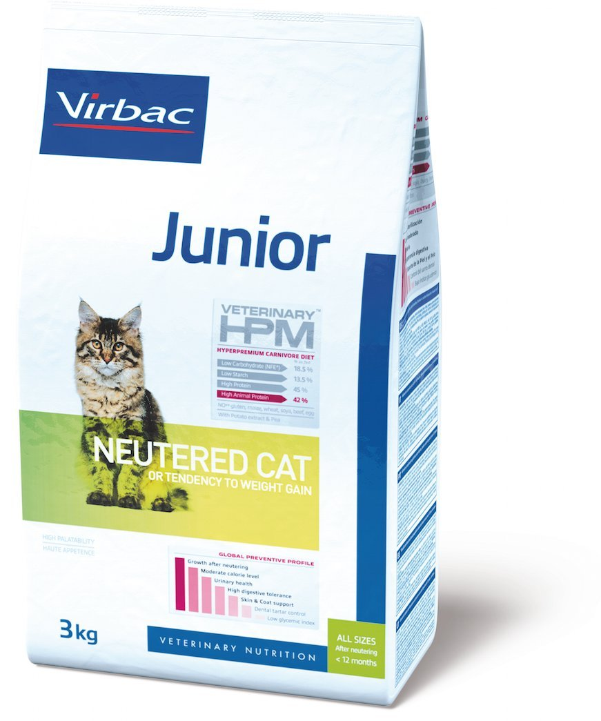 Virbac Veterinary HPM Junior Neutered Cat 3 kg 5345