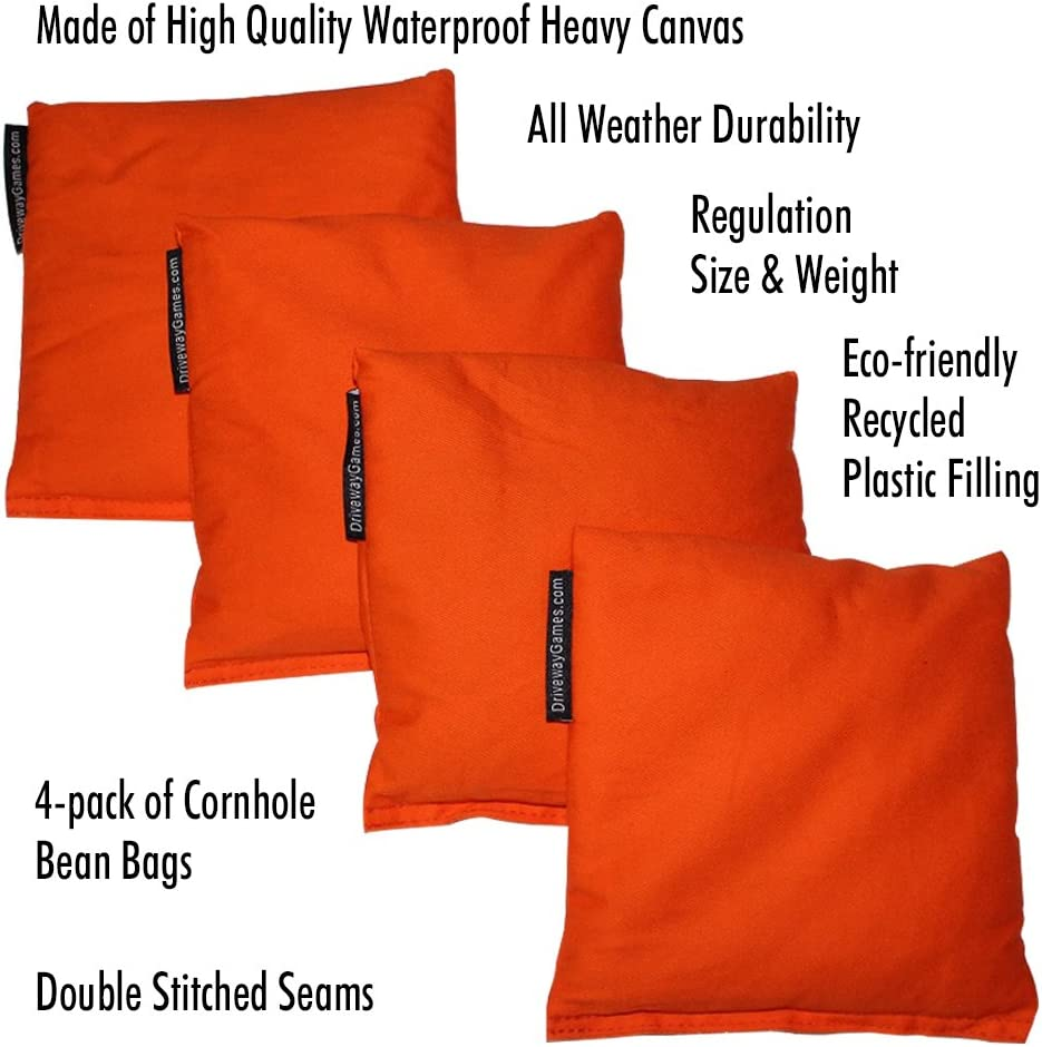 Waterproof Regulation Corn Toss Bags Driveway Games All Weather Cornhole Bean Bag Set