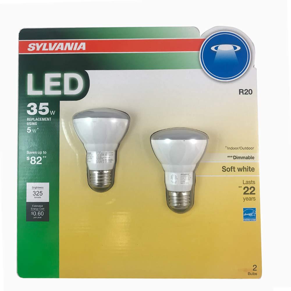 Sylvania 73781 Medium Base 2700K Dimmable R20 5W LED Bulb Warm White