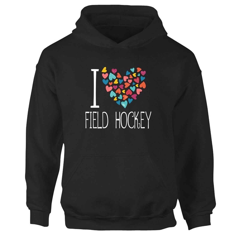 Girl Hoodie Sports JiuJiuksd love Field Hockey colorful hearts