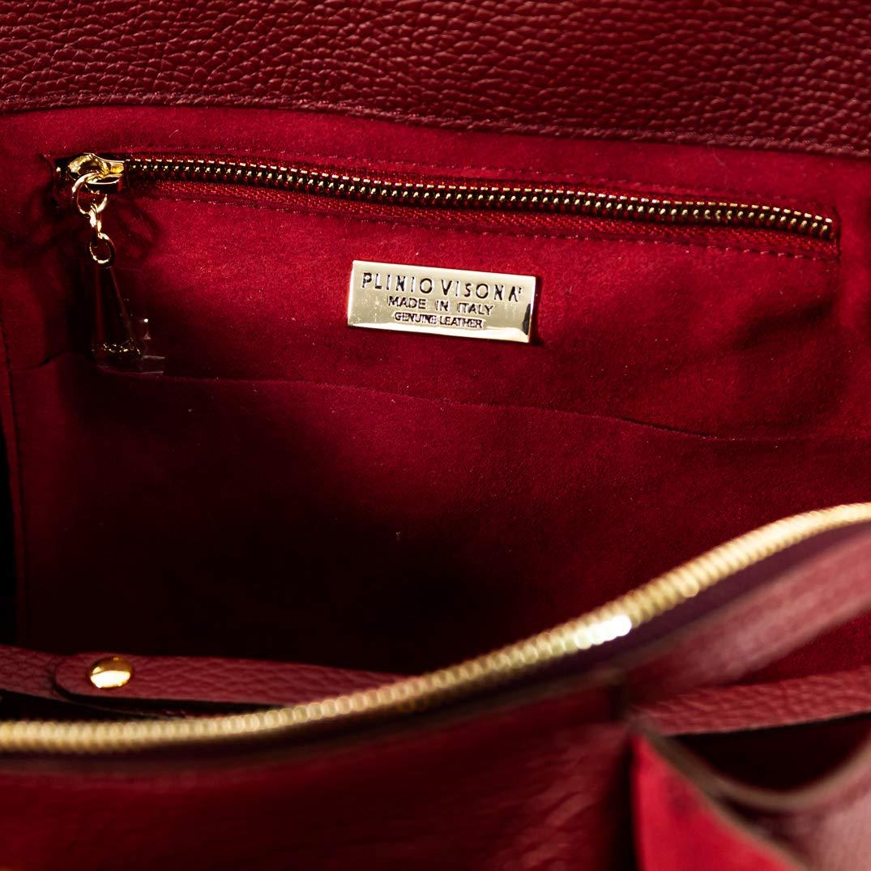 a5f5199527570 Plinio Visona Italian Designer Marsala Red Leather Purse Crossbody Bag  w Fringe  Amazon.com.au  Fashion
