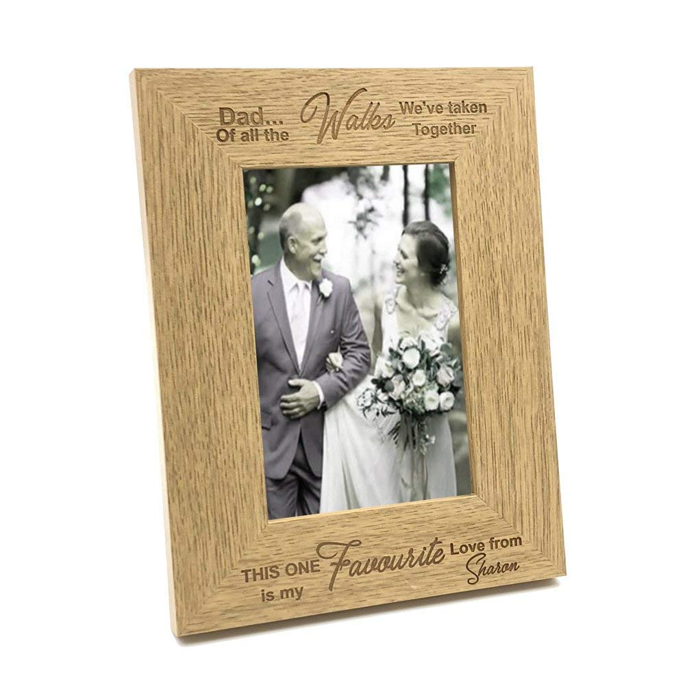 4 x 6 Inch ukgiftstoreonline Personalised Engagement Wooden Photo Frame Gift