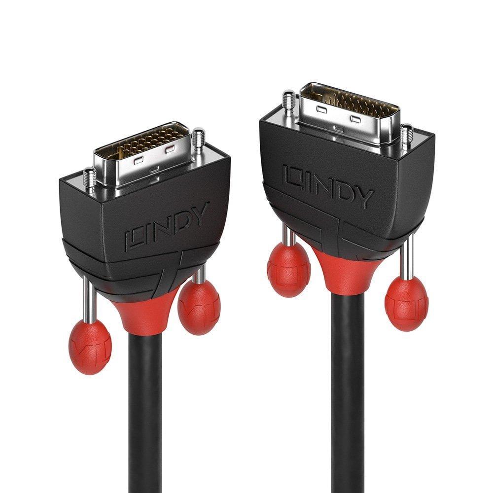Lindy 36253 Cable DVI 3 m DVI-D Negro - Cables DVI (3 m, DVI-D, DVI-D, Macho, Macho, Oro)