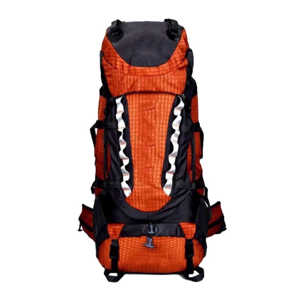 FGSJEJ バックパック 多機能登山バッグ アウトドア バックパック 旅行 ショルダーバッグ 70L  オレンジ B07GTPQ8ZP