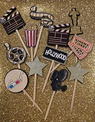 12 Movie Cinema Hollywood Cupcake Toppers Picks