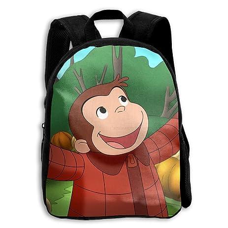Cool 3D Shoulder Bag Backpack Curious George Wallpaper Print For Children Boysgirls Childs