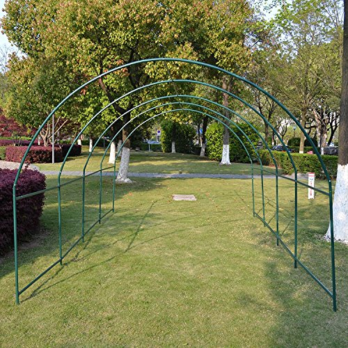 BenefitUSA Larger Hot Green House 20'X10'X7′ Walk In Outdoor Plant Gardening Greenhouse Frame (Cover Does Not Included)