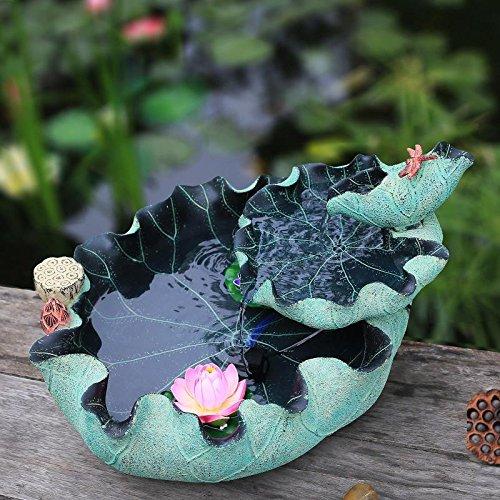 ZYRD Jardín de rocalla sala fuente suerte aerogenerador el pescado tanque humidificador dispositivo peces estanque adornos holandés diversión acuática: Amazon.es: Hogar