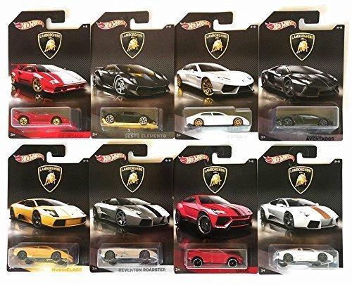 Hot Wheels 2017 Lamborghini Bundle Of 8 Die Cast Vehicles 1 64 Scale