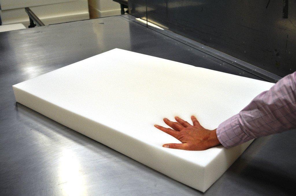 Colchones de espuma de memoria recortables para perro: camas, colchones cojines, etc. Medidas: 60 cm x 90 cm x 7.5 cm., 48 x 36 x 3