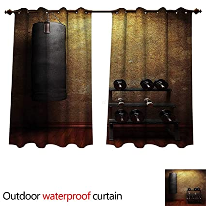 Amazon cobedecor fitness outdoor balcony privacy curtain gym