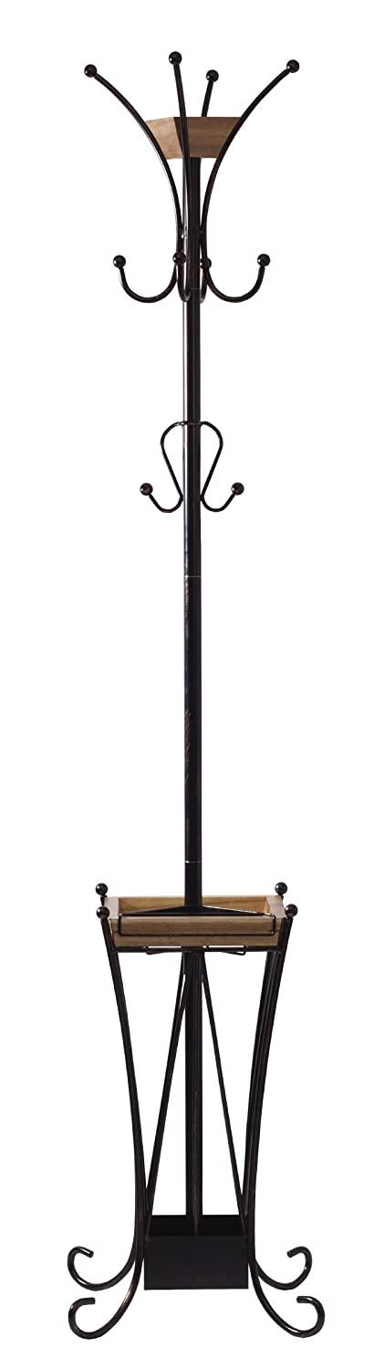 Artesa Coat Rack With Umbrella Stand And Removable Tray, Black - 5215210