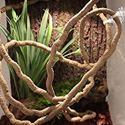 EONMIR 8-Foot Reptile Vines, Flexible Jungle Climber Vines Habitat Decor for Climbing, Chameleon, Lizards, Gecko, Snakes (Long Vines)