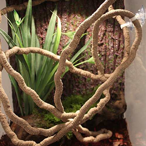 EONMIR 8-Foot Reptile Vines, Flexible Jungle Climber Long Vines Habitat Decor for Climbing, Chameleon, Lizards, Gecko