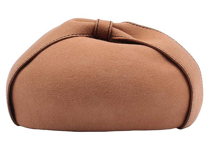 Feoya - Basco scozzese - Donna Cammello Taglia unica  Amazon.it   Abbigliamento 9a630a021f83