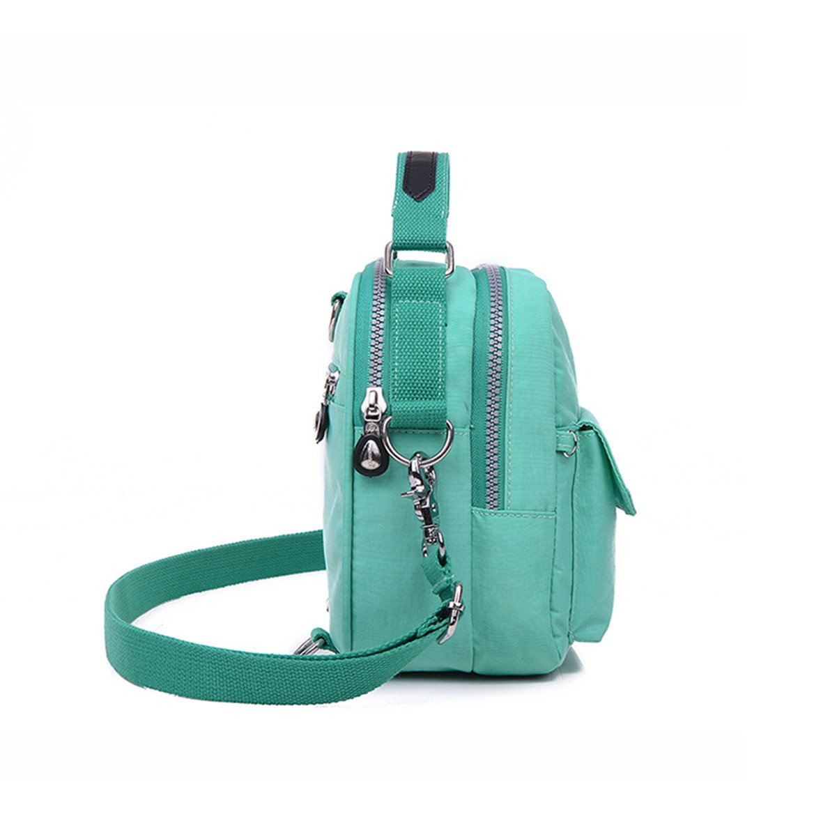 6fe5e091886a Tiny Chou Candy Color Mini Water Resistant Nylon Cell Phone Pouch Bag Dual  Layers Crossbody Handbag larger image