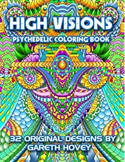 Amazon Trippy Kitty The Psychedelic Cat Coloring Book Youve