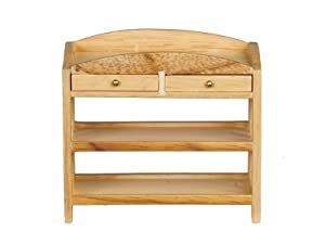 Melody Jane Dollhouse Light Oak Mission Baby Changing Table Miniature Nursery Furniture