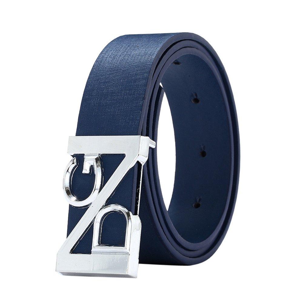 Big Sale SFE Unisex Belt Leather Buckle Casual Waist Strap Waistband Outdoor (Blue)