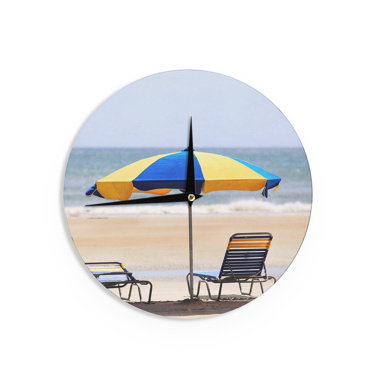 Kess InHouse Angie Turner Blue and Yellow Umbrella 12 Diameter
