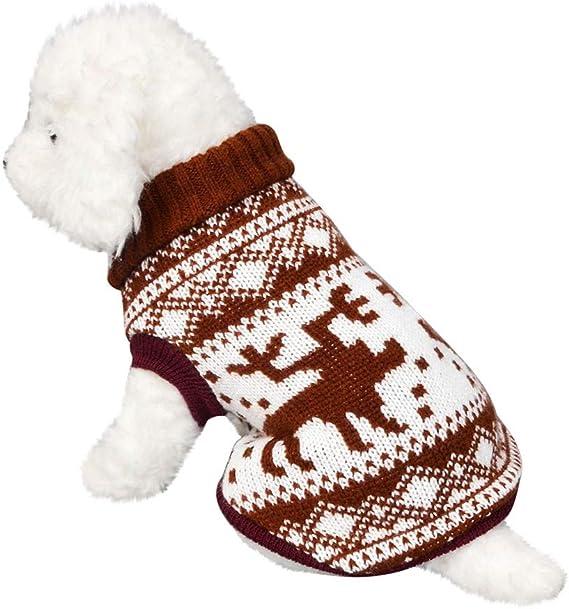 erthome Nette Welpen Haustier Hund Katze Kleidung Winter Warme Hoodie Pullover Mantel Bekleidung M, Rot