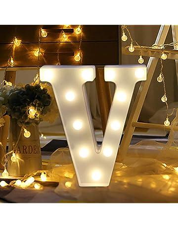 d455d8067c81 TAOtTAO Remote control Alphabet Letter Lights LED Light Up White Plastic  Letters Standing