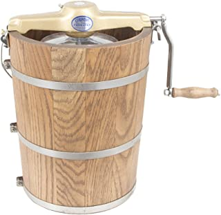 product image for 6 qt Country Ice Cream Maker - Classic Wooden Tub - Hand Crank