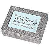 Daughter Beautiful Child of God Silver Stamped Metal - Best Reviews Guide