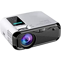"【2020 New】 JIEGAO Portable Projector, 5500 Lux Wireless Mini Projector HD 1080P and 220"" Display Supported, Compatible…"