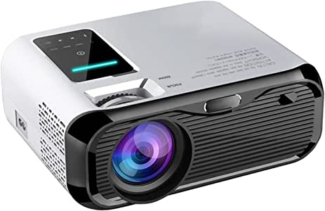 """【2020 New】 JIEGAO Portable Projector, 5500 Lux Wireless Mini Projector HD 1080P and 220"""" Display Supported, Compatible with HDMI, VGA,TV Stick, PS4, TF, AV and USB -AU Compatible"""