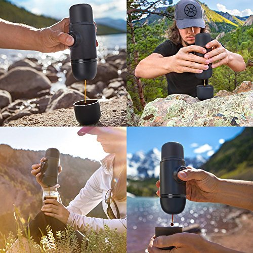 Portable Espresso Coffee Minipresso Maker Cup Machine Mini Manual by Pressopump Handheld Travel Bottle Lightweight Perfect for Home Outdoors & Office