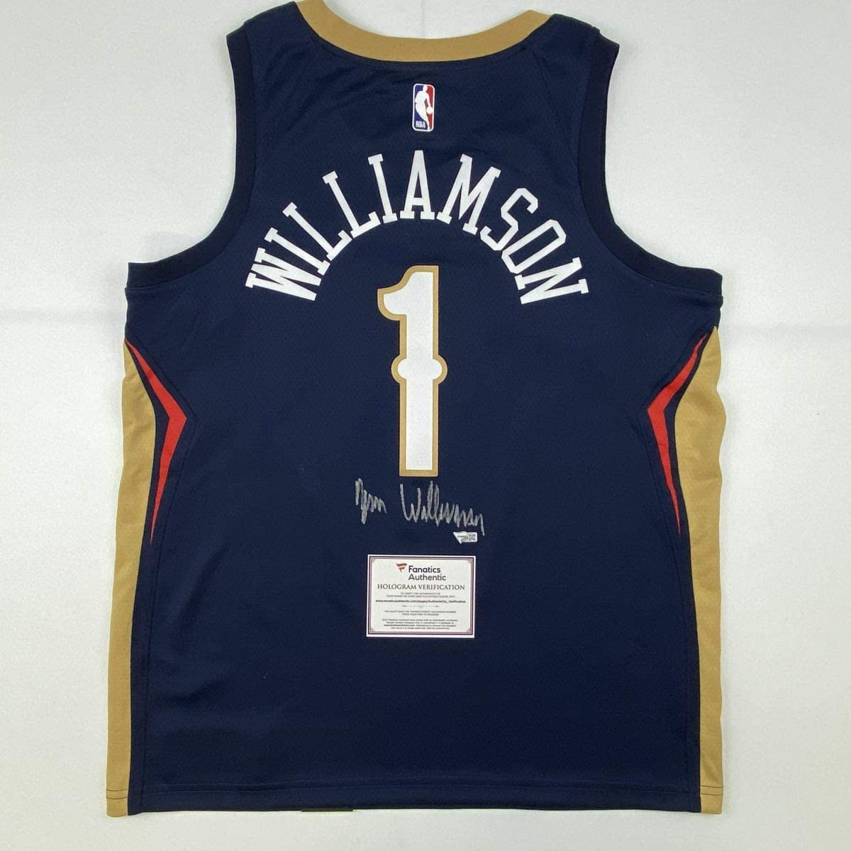 Autographed/Signed Zion Williamson New Orleans Pelicans Blue Swingman Nike Basketball Jersey Fanatics COA