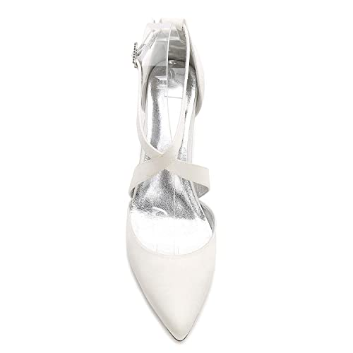 Mujer Acanalado Tacón Mediados De Raso Elobaby Boda Zapatos tnSq4wwC