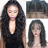 Full Lace Human Hair Wigs with Baby Hair for Black Women Glueless Brazilian Hair Wigs Water Wave 130% Density Natural Color 14inch
