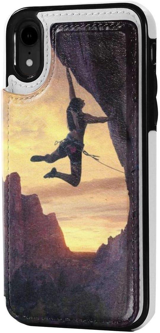 MoMo iPhone XR Caso Escalada Cuero de la Tarjeta de crédito ...