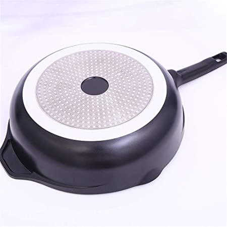 Sartenes, Aluminio Infinito Duro Anodizado 32 cm Sartén con tapa de vidrio Recubrimiento de cerámica antiadherente Easy Clean, Negro: Amazon.es: Hogar