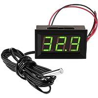 FBBULES Termómetro Digital de 12V con Sonda Medidor LED de Temperatura Monitor para Congelador Refrigerador Pecera de…