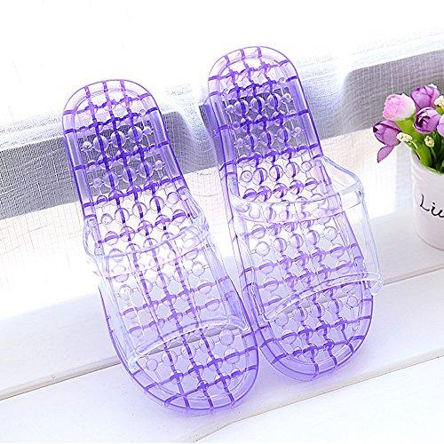 las de Zapatillas gruesos masaje bañan verano antideslizantes baño con plásti de deslizadores femenina Los deslizadores cristalinas Cómodo las del que Casa Cuarto se los zapatillas con frescas amantes D aSqHw