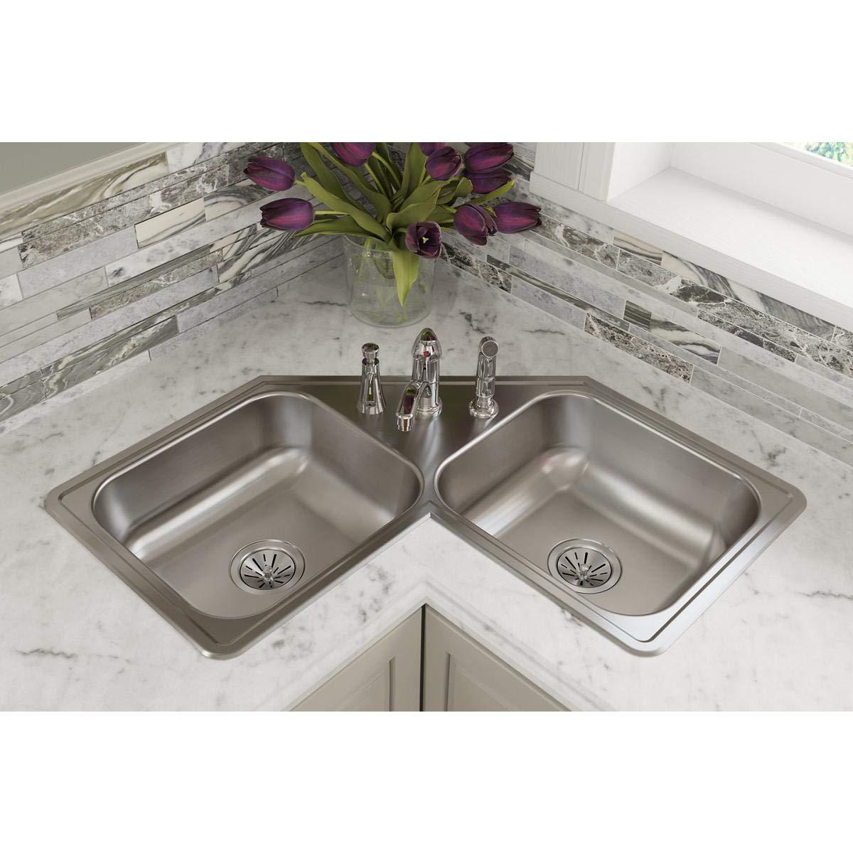 Elkay DE217323 Dayton Equal Double Bowl Stainless Steel Corner Sink by Elkay (Image #2)