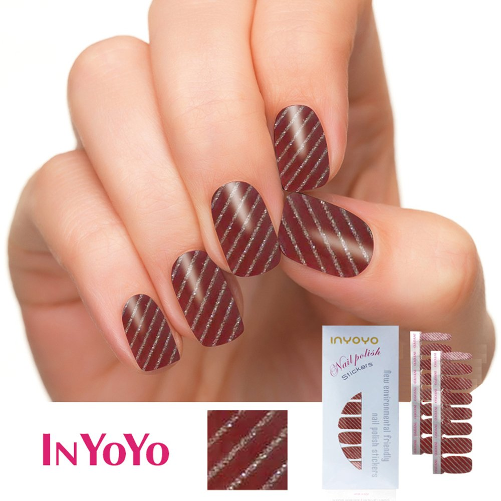 Amazon.com: IN YOYO H-218 Wholesale 16 Tips 100% Real Polish Nails ...