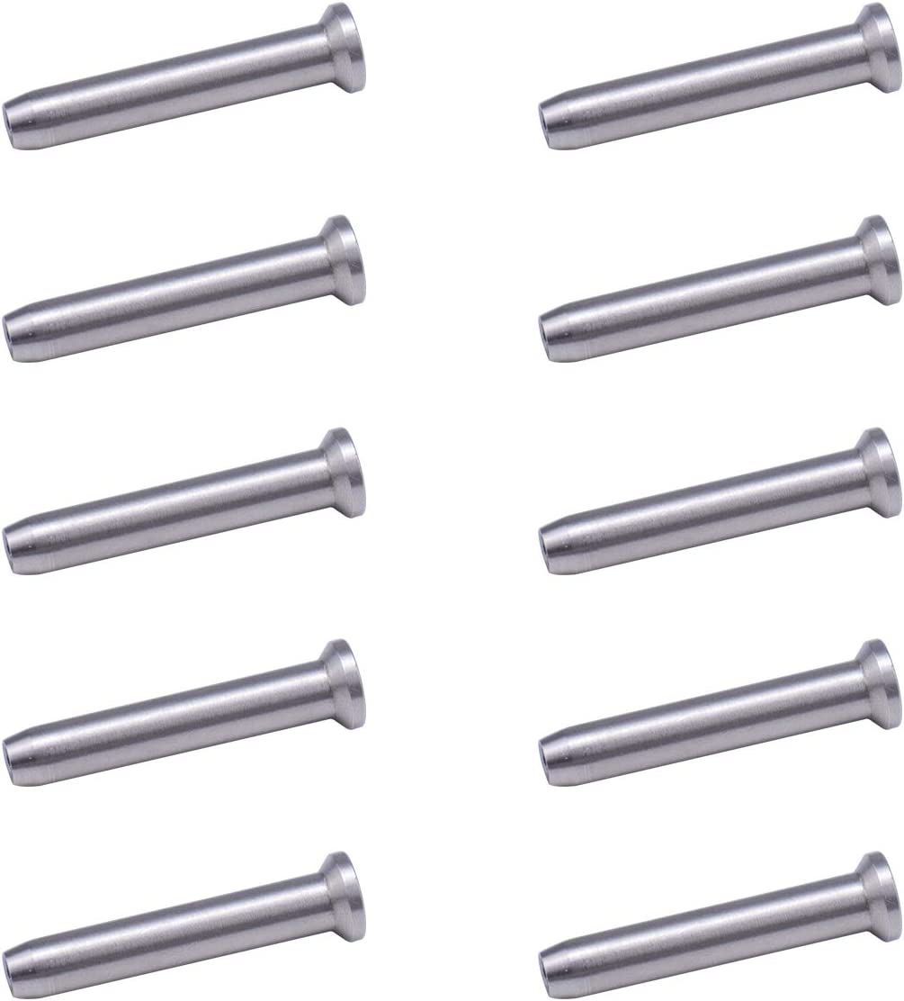 Muzata Sunk Head Stemball Swage Stud Dead Ends for 1//8 Cable Railing Hand Crimp Stainless Steel T316 Marine Grade 10PCS